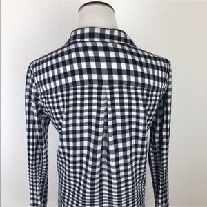 Madewell Tops - Madewell Gingham Button Down Shirt Black White